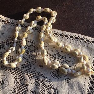 Vintage Double Strung Cowrie Shell Necklace